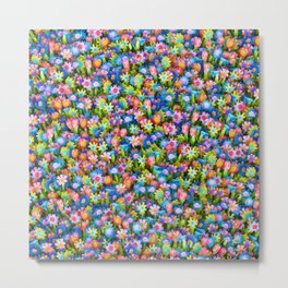 Flowers. Children's drawings Metal Print