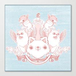 Fur Coat of Arms Canvas Print
