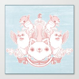 Fur Coat of Arms Canvas Print