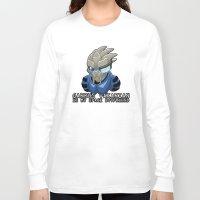 garrus Long Sleeve T-shirts featuring Garrus Vakarian Is My Space Boyfriend by Maggie Davidson