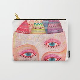 girl with the most beautiful eyes mask portrait Carry-All Pouch