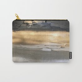 Golden Black Lines Painting Carry-All Pouch