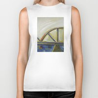 bridge Biker Tanks featuring Bridge by Vilnis Klints
