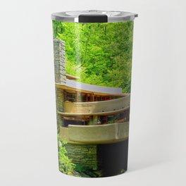 Frank Lloyd Wright   architect   Fallingwater Travel Mug