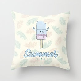 Summer Popsicle Throw Pillow
