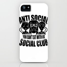 Anti Social Club Mobbing loner gift iPhone Case