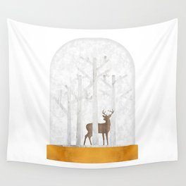Deer  Snow Ball Wall Tapestry