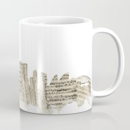 Sydney Australia Skyline Sheet Music Cityscape Coffee Mug