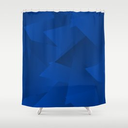 THE BLUE TRIANGLES Shower Curtain