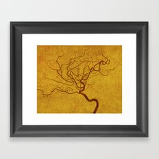 Cerebral in Sand Framed Art Print