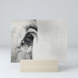 HorSe (V2 grey) Mini Art Print