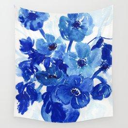 blue stillife Wall Tapestry