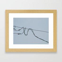 Fios e construção (2) Framed Art Print