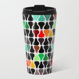 Colorful retro vintage abstract pears pattern Metal Travel Mug