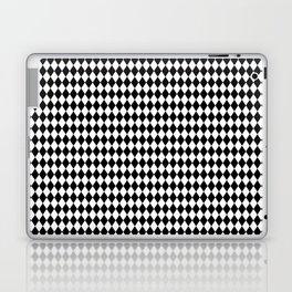 Micro Black & White Mini Diamond Check Board Pattern Laptop & iPad Skin
