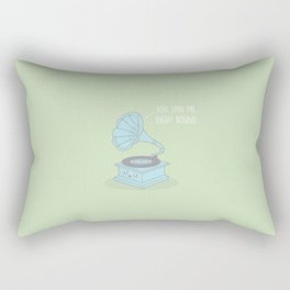 You Spin Me Right Round #kawaii #round Rectangular Pillow