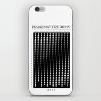 moon phase iPhone & iPod Skins featuring 2015 Moon Phase Calendar by Nick Wiinikka
