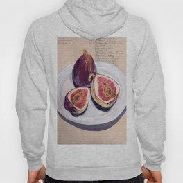 Figs on a Plate in Gouache Hoody