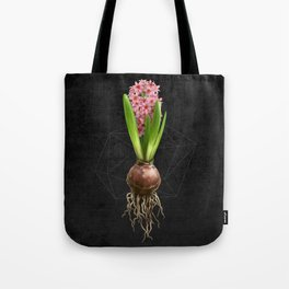 Pink Hyacinth Hydroponics (tryptic 3/3) Tote Bag
