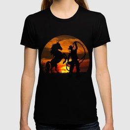 Cowboy at sunset T-shirt