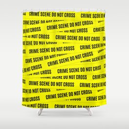 Crime Scene Tape Pattern Shower Curtain