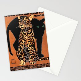 Munich Zoo Big Cats By Ludvig Hohlwein 1926 Stationery Cards