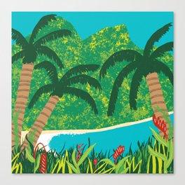 Tropical Island Getaway Canvas Print