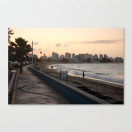 Sunset in San Juan Canvas Print