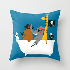 Everybody wants to be the pirate Throw Pillow