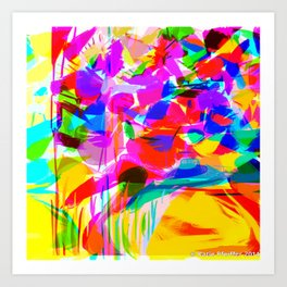 Abstract Flower Bouquet  or  When Will Spring Be Here? Art Print