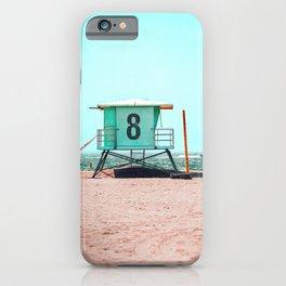California Lifeguard Tower iPhone Case