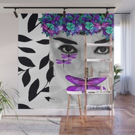 DRAGONFLY WOMAN Wall Mural