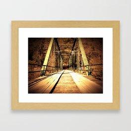 Old Shallowford Bridge Framed Art Print