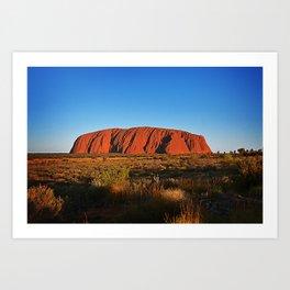 Uluru Art Print