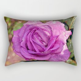 Sardinian Rose Poetry Rectangular Pillow