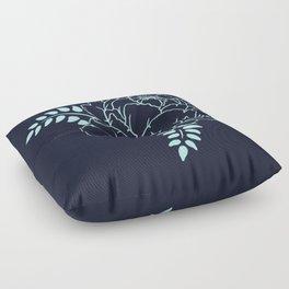 Dark blue peony Floor Pillow