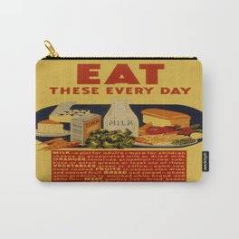 Vintage poster - Eat These Every Day Carry-All Pouch