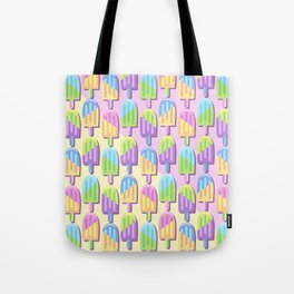 Ice Lollipops Popsicles Summer Punchy Pastels Colors Pattern Tote Bag