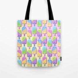 Ice Lollipops Popsicles Summer Punchy Pastels Colors Pattern Tote Bag