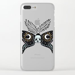 Moth Moon Clear iPhone Case