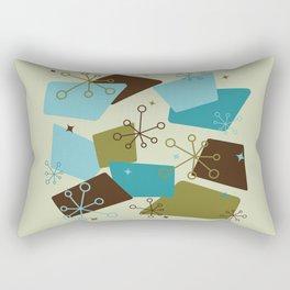 Mid Century Modern Futuro (teal) Rectangular Pillow