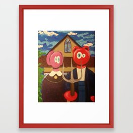 Farmer and his Wife Framed Art Print