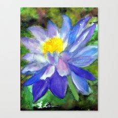 Blue Violet Lotus flower Canvas Print