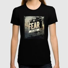 No Fear In Love Womens Fitted Tee X-LARGE Black