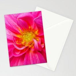 Bright Pink Dahlia Stationery Cards