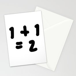 1 + 1 = 2 (One Plus One Equals 2) Stationery Cards