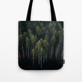 Aerial Photograph of a pine forest in Germany - Landscape Photography Tote Bag