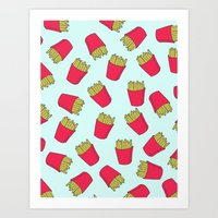 Fries Art Print
