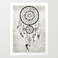 dreamcatcher Art Prints featuring Dreamcatcher by Nora Bisi