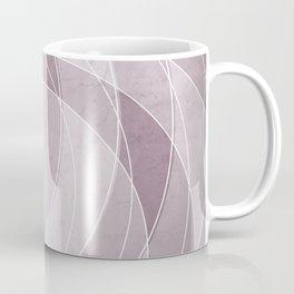 Orbiting Circle Design in Musk Mauve Coffee Mug